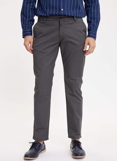 DeFacto Regular Fit Chino Pantolon Antrasit